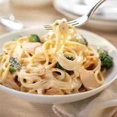 Philadelphia - Recipe - Chilli Spaghetti with Salmon and Broccoli