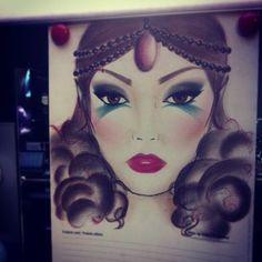 #facechart #creativemakeup #bohemianlook #artisticeyes