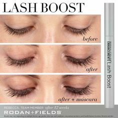 New product I'm so excited!! Rodan and Fields lash boost! 100% natural. 100% yours.  Available November 2016 Www.premiumskin.myrandf.com