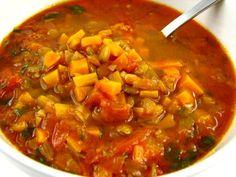 Cinco Quartos de Laranja: Sopa de lentilhas e tomate