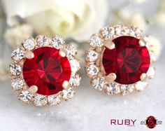 Shop for natural Ruby Manik gemstone at affordable price in India for astrology benefits. Place online order for Ruby stone from best online store. Check ruby price, value, benefits, wearing methods. Gold Bridal Earrings, Rose Gold Earrings, Bridesmaid Earrings, Bridesmaids, Garnet Stone, Amethyst Stone, Red Garnet, Ruby Stone, Garnet Earrings