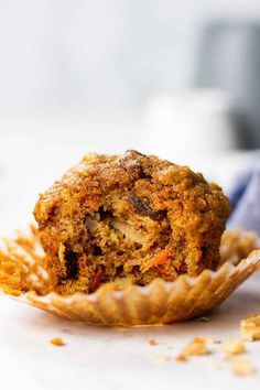 Let's start this morning with healthy and delicious Morning Glory Muffins! Healthy Muffin Recipes, Healthy Muffins, Diabetic Recipes, Pumpkin Zucchini Muffins, Morning Glory Muffins, Grab And Go Breakfast, Breakfast Cookies, Breakfast Recipes, Just Bake
