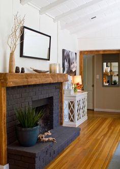 15 Gorgeous Painted Brick Fireplaces | HGTV's Decorating & Design Blog | HGTV