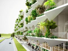 NL Architects' Sanya Block 5 is a Lush Garden Hotel for China China Architecture, Landscape Architecture Drawing, Computer Architecture, Innovative Architecture, Hotel Architecture, Sanya, Green Facade, Passive Design, Outdoor Balcony