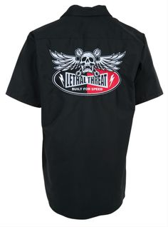 Lethal Threat Built For Speed Mechanic's Shirt - Free Shipping on Orders Over $99 at Genuine Hotrod Hardware