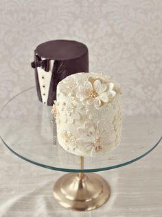 Mini Vintage Wedding Cakes - I Sugar Coat It