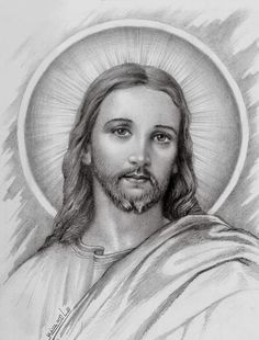 Tattoos Discover jesus by on DeviantArt Jesus Our Savior, Jesus Art, Jesus Is Lord, Pictures Of Jesus Christ, Religious Pictures, Religious Tattoos, Religious Art, Jesus Drawings, Jesus Tattoo