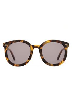 Karen Walker Sunglasses  Super Duper Strength Oversized Round Frame