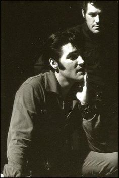 Elvis & Charlie Hodge -  rehearsals at Binder-Howe Productions office for 68 Special 6-10-68