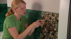 dining room?? Install a Pebble Tile Accent Wall: Installation