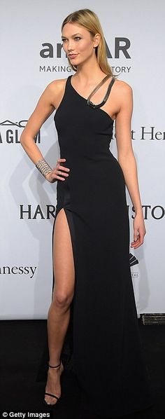 Pull out all the stops in a show-stopping Mugler dress like Karlie Kloss, £2244