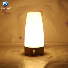 EK-SL01 Bronze Wire Drawing Wireless PIR Motion Sensor LED Table Lamp AAA Battery Powered Table Night Light PIR sensor LED Light