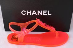 Get the must-have sandals of this season! These Chanel Pink Hot Beach Neon Thong Flats Jelly 37 Sandals Size US 7 Regular (M, B) are a top 10 member favorite on Tradesy. Chanel Sandals, Pink Sandals, Flat Sandals, Flats, Chanel Pink, Hot Beach, Jelly, Neon, Shoes