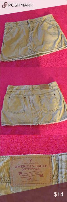 American Eagle Outfitters mini skirt. American Eagle Outfitters. Beige corduroy mini skirt. Size 6. Front and back pockets. American Eagle Outfitters Skirts Mini