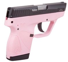 """Taurus Model 738BSSP TCP, 380 Compact Pistol/3.3"""", Black SS, Pink Frame, Extended Mag - Impact Guns"""