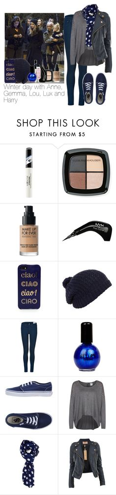 """Winter day with Anne, Gemma, Lou, lux and Harry"" by cheyenne-stock ❤ liked on Polyvore featuring Max Factor, Victoria's Secret, Eddie Funkhouser, NYX, Kate Spade, rag & bone, Vans, Vero Moda and Forever 21"