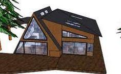 A frame + addition modern cabin