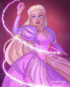 Disney Princess Art, Barbie Princess, Disney Fan Art, Rapunzel Barbie, Cute Disney Drawings, Cute Drawings, Girl Cartoon, Cartoon Art, Barbie Drawing