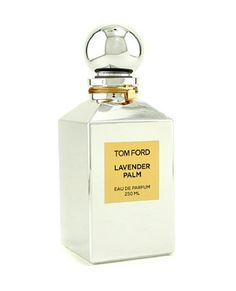 """Tom Ford's newest, """"Lavender Palm"""".  Two types of lavender, bergamot, lemon, clary sage, lime blossom, pink and white oleander, olibanum, green moss and vetiver."""