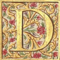 Calligraphy Borders, Calligraphy Alphabet, Caligraphy, Medieval Manuscript, Medieval Art, Illuminated Letters, Illuminated Manuscript, Watercolor Tips, Letter Art