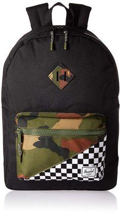 4256af78e3 Herschel Supply Co. Kids  Heritage Youth XL Children s Backpack Checkered  Camo  HerschelSupplyCo