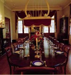 Dining Room at the Oak Alley Plantation