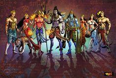 modern depiction of indian gods