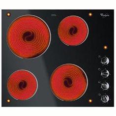 WHIRLPOOL - AKM901NE03 _ Table de cuisson Vitrocéramique - 4 foyers radiants (1,2x2 / 1,8 / 2,1 kW) - 6 niveaux de puissance - Témoins individuels de chaleur résiduelle.