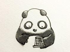 2014.3.18 【一日一パンダ】 電卓は電子卓上計算機の略だけど卓上ではなくて パソコン内にも電卓という機能が入っていたりするね。 #電卓