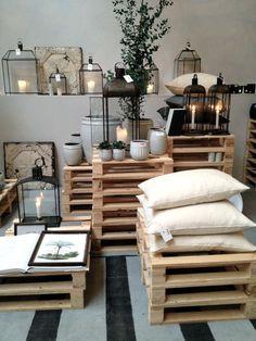 decoração com paletes de madeira #paletes #sala #decoração