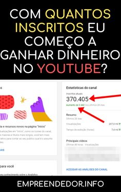 Canal No Youtube, Instagram Blog, Marketing Digital, Youtubers, Money, Make Money From Internet, Make Money Online, Content Marketing, Blog Tips