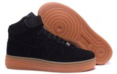 Nike Air Force 1 High Suede Black Nude - Air Force 1