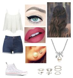 """Untitled #587"" by ray-dany ❤ liked on Polyvore featuring MBLife.com, Converse and Charlotte Russe"