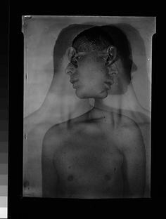 Walker EVANS :: Double Exposure of Lincoln Kirstein, Left and Right Profiles, 1930-31