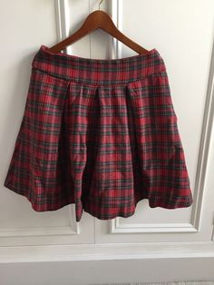 Cabbages & Roses Tartan Skirt - Size 8