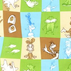 New range of Dr Seuss by Kaufman-Great for child's room or playroom décor/clothing.  http://www.theozmaterialgirls.com/celebrate-dr-seuss-2-adventure-patch-quilt-craft-fabric-p-6180.html?zenid=13745c1d529f719d1d1fd139869437c8  Purchase one metre of the featured fabric and receive a FREE FQ (chosen by the TOMG staff) of a coordinating or blender fabric to compliment your purchase,. Just enter the CODE:  DOTD in the comments at checkout. This deal expires at midnight tomorrow, 23rd Feb, 2013.