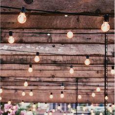 Henleaze Outdoor 25 – Bulb Globe String Light - New ideas Lantern String Lights, Patio String Lights, Globe Lights, Light String, Patio Lighting, Modern Lighting, Lighting Ideas, String Lights In The Bedroom, Twinkle Lights
