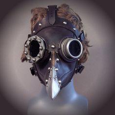 Dr. Beulenpest, Steampunk Plague Doctor Mask. $475.00, via Etsy.