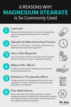 Magnesium stearate purposes - Dr. Axe http://www.draxe.com #health #holistic #natural