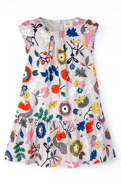 Mini Boden 'Pretty' Printed Dress