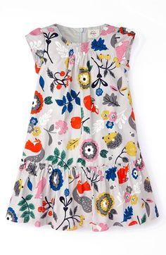 Mini Boden 'Pretty' Printed Dress