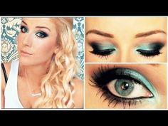 A Tutorial- Turquoise Smokey Eye! Gothic Makeup, Fantasy Makeup, Makeup Tips, Beauty Makeup, Makeup Art, Makeup Tutorials, Beauty Tips, Crazy Makeup, Makeup Looks