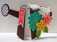 Peanuts and Peppers Papercrafting: Try It Thursday - Stampin' Up! Flower Patch Watering Can Shape Card
