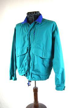 Vintage L.L. Bean Freeport, Maine Men's Jacket 100% Nylon Made in USA Supply Parka by ANTIGOs on Etsy