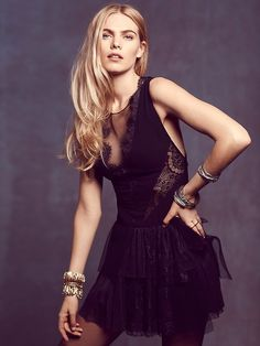 Free People Black Dove Dress at Free People Clothing Boutique
