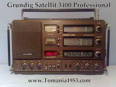 Grundig Satellit 3400 World Band Radios, Spark Gap, Radio Band, All Band, Antique Radio, Tech Toys, Boombox, Ham Radio, World