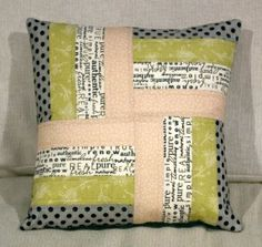 Wonderful Mesmerizing Sewing Ideas for All. Awe Inspiring Wonderful Mesmerizing Sewing Ideas for All. Sewing Pillows, Diy Pillows, Decorative Pillows, Throw Pillows, Handmade Cushions, Pillow Ideas, Patchwork Cushion, Quilted Pillow, Homemade Pillows