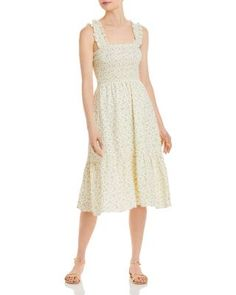 The Yellow Dress you need! - Cottagecore Aesthetic Fashion .. Add this Summer maxi dress to your closet today! #AD #affiliate Aesthetic Fashion, Yellow Dress, Dresses Online, Fabric Design, Bodice, Floral, Model, How To Wear, Clothes
