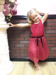 Red Christmas Dress Girl's clothes