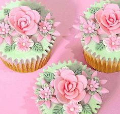 Rose & Floral Cupcakes ~ Dainty Delights                                                                                                                                                                                 More